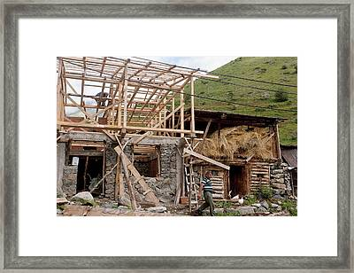 Renovating An Old House Framed Print by Bob Gibbons
