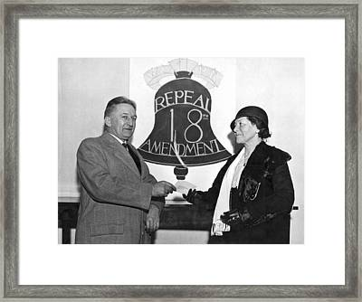 Repeal Prohibition Supporters Framed Print by Underwood Archives