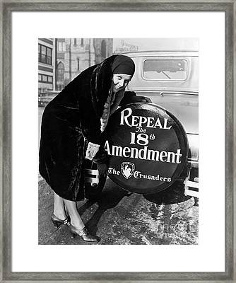 Repeal The 18th Amendment Framed Print by Jon Neidert