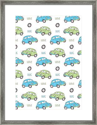 Repeat Print - Love Bug Framed Print by Susan Claire