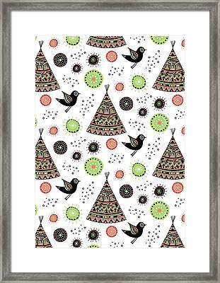 Repeat Print - Wild Night Framed Print by Susan Claire