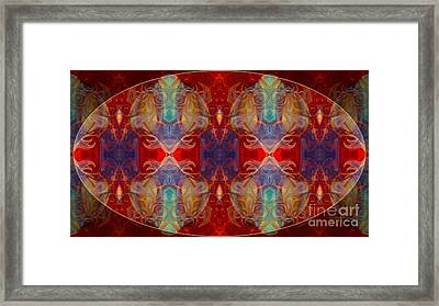 Repeating Realities Abstract Pattern Artwork By Omaste Witkowski Framed Print by Omaste Witkowski