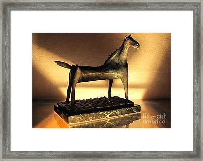 rephotographed SEA MARE Original bronze sculpture Limited Edition of 3 sculptures Framed Print by Charlie Spear