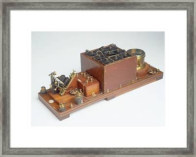 Replica Of Marconi's Wireless Telegraph Framed Print by Dorling Kindersley/uig