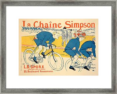 Reproduction Of A Poster Advertising Framed Print by Henri de Toulouse-Lautrec