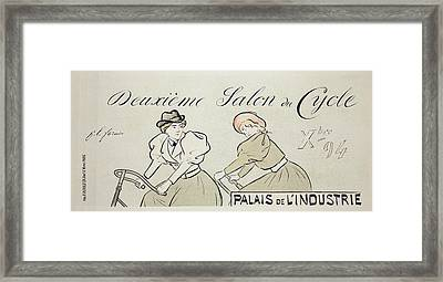 Reproduction Of A Poster Advertising Framed Print by Jean Louis Forain