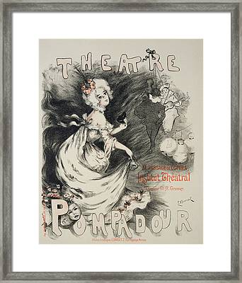Reproduction Of A Poster Framed Print by Emmanuel Barcet