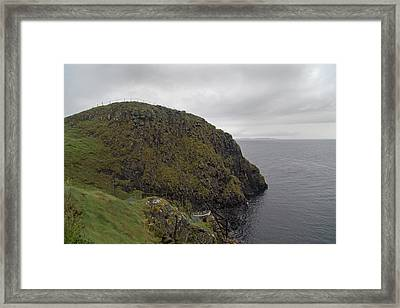 Rescue Boat Carrick-a-rede Ireland Framed Print by Betsy Knapp