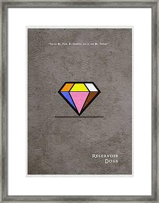 Reservoir Dogs - 3 Framed Print by Ayse Deniz