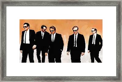 Reservoir Dogs Movie Artwork 1 Framed Print by Sheraz A