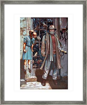 Resistance At The Threshold Framed Print by William Stoneham