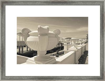 Resort At Riviera Beach, Sochi, Black Framed Print by Panoramic Images
