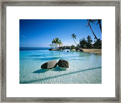 Resort Tahiti French Polynesia Framed Print by Panoramic Images