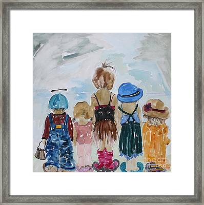 Respectively Dedicated To Childhood Framed Print by Vicki Aisner Porter