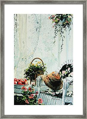 Rest From Garden Chores Framed Print by Hanne Lore Koehler