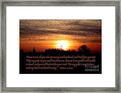 Rest In Him Framed Print by Erica Hanel