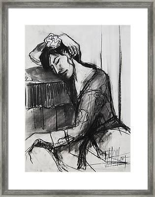 Rest - Pia #8 - Figure Series Framed Print by Mona Edulesco
