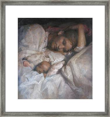 Rest Framed Print by Odd Nerdrum
