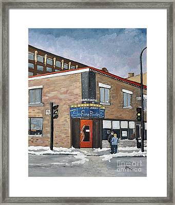 Restaurant A La Fine Pointe Framed Print by Reb Frost