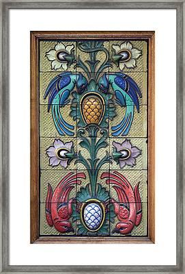 Restaurant Ceramic Birds Framed Print by A Morddel