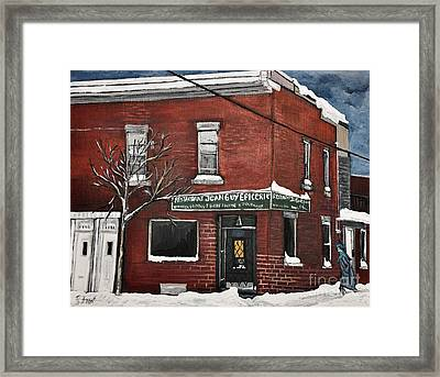 Restaurant Jean Guy  Pte. St. Charles Framed Print by Reb Frost