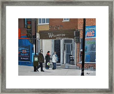 Restaurant Wellington Framed Print by Reb Frost