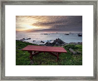Restful Ocean View Framed Print by Leland D Howard