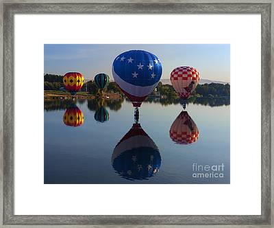 Resting On The Water Framed Print by Mike  Dawson
