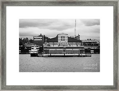 restored Chelsea Pier 60 20th century passenger ship terminal hudson new york city Framed Print by Joe Fox