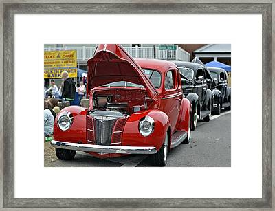Restored Classic Cars Framed Print by Susan Leggett