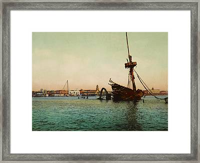 Restos Del U.s.s. Maine Habana Framed Print by Digital Reproductions