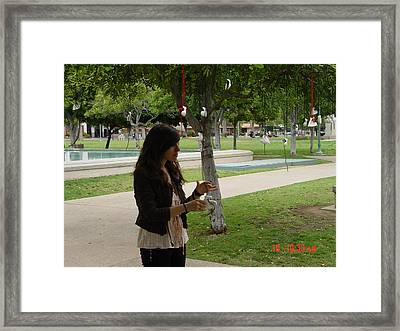 resurrected love reclamation with interactive participant Tanya Basmadjian  Framed Print by Kenneth James