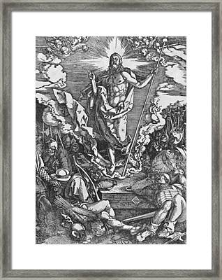 Resurrection Framed Print by Albrecht Duerer