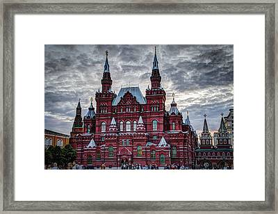 Resurrection Gate And Iberian Chapel - Red Square - Moscow Russia Framed Print by Jon Berghoff