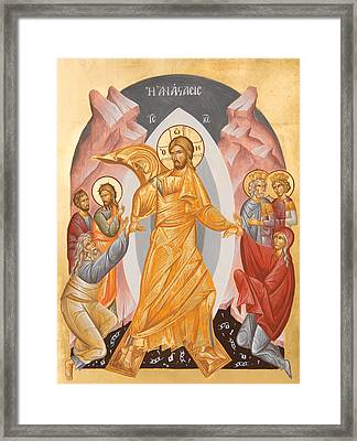 Resurrection Of Christ Framed Print by Julia Bridget Hayes