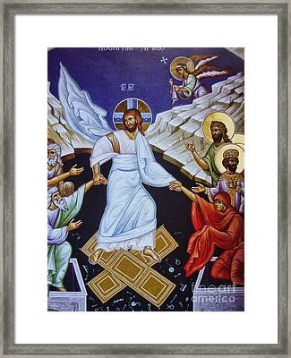 Resurrection Of Jesus Christ Icon Framed Print by Ryszard Sleczka