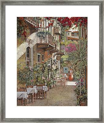 Rethimnon-crete-greece Framed Print by Guido Borelli