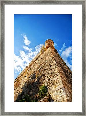 Rethymnon Fort 01 Framed Print by Antony McAulay