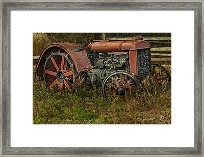 Retired Fordson Tractor Framed Print by Susan Candelario