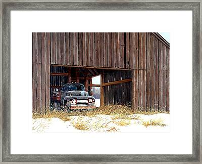 Retired Framed Print by Michael Swanson