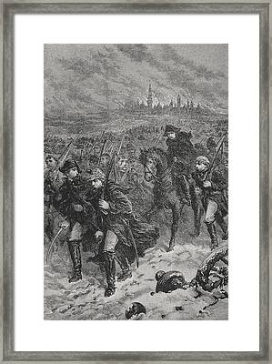 Retreat From Moscow Framed Print by Lady M Chalcott