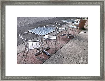 Retro Cafe Framed Print by Olivier Le Queinec