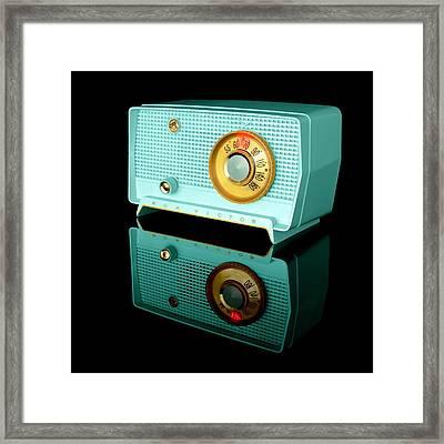 Retro Classic Table Radio Framed Print by Jim Hughes