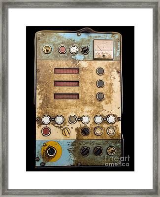 Retro Control Panel Framed Print by Sinisa Botas