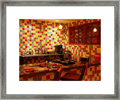 Retro Diner Framed Print by Karen Wiles