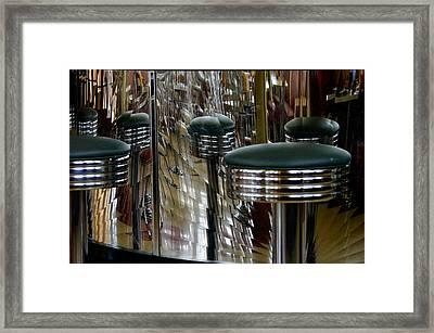 Retro Diner Framed Print by Paul Wash
