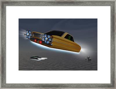 Retro Flying Objects Framed Print by Mike McGlothlen
