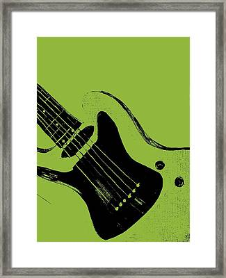 Retro Guitar Framed Print by Mark Moore