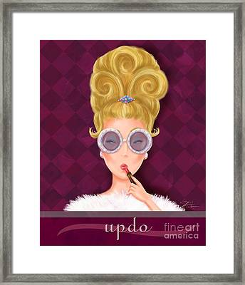 Retro Hairdos-updo Framed Print by Shari Warren