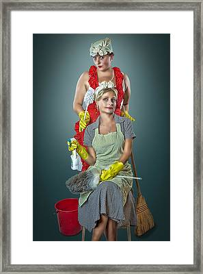 Retro Housewives Part IIi Framed Print by Erik Brede